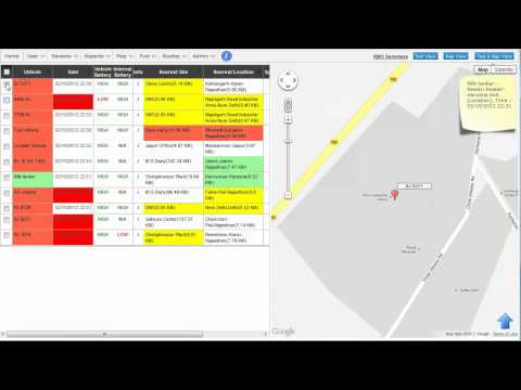 Demo of the default homepage of vehicle tracking system