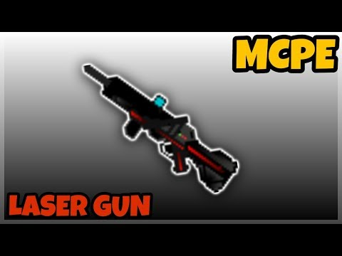 Minecraft PE: Working Laser Gun Tutorials