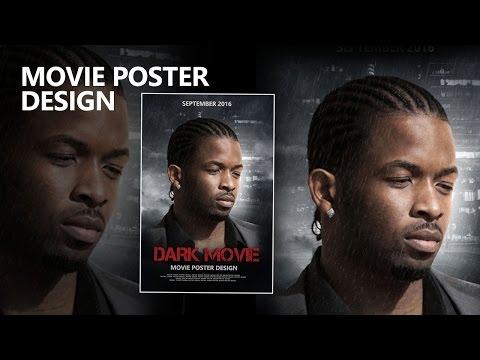 Movie poster design in photoshop cc
