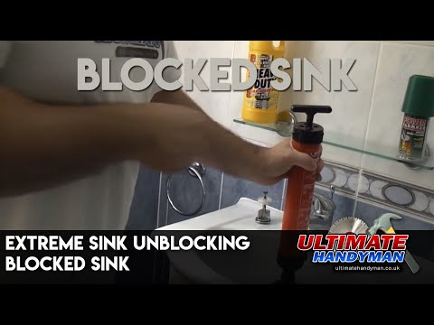 Extreme sink unblocking | Blocked sink