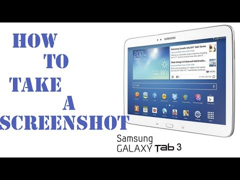 How to Screen Capture on a Samsung Galaxy Tab 3 - Take a Screenshot on a Galaxy Android Tablet