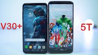 LG V30+ vs OnePlus 5T Comparison Display | Build | Features | Cameras LG V30 vs Oneplus 5T
