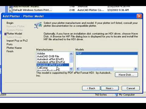 Adding a PDF Printer to AutoCAD