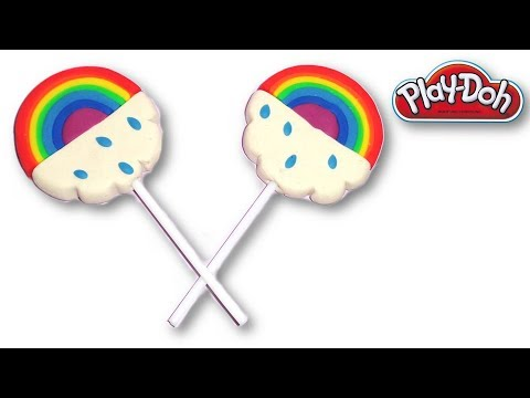 Making of Play-Doh Rainbow Lollipops