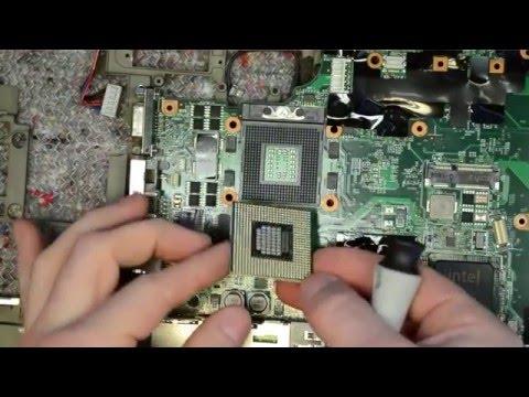 Lenovo T61 laptop disassembly, take apart, teardown tutorial