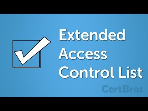 How to Configure Extended ACL Cisco