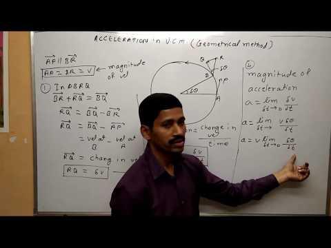 Acceleration in Uniform Circular Motion Geometric Method Maharashtra Board Physics Class 12