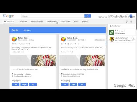 Google+ - How To View Hangouts Posted As Events
