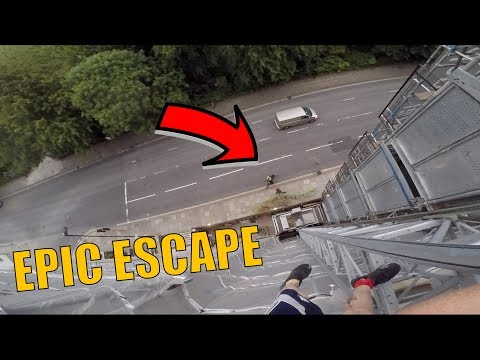 EPIC SECURITY & POLICE ESCAPE FROM MAD CLIMB!