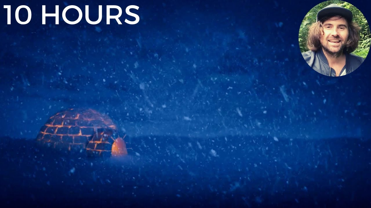 Blizzard Snowstorm & Arctic Howling Wind Sounds for Sleeping, Relaxing, & Insomnia   Igloo Ambience