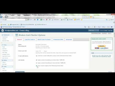 How To Check Broken Wordpress Links Using a Free Wordpress Link Checker Plugin