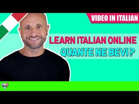 Practice Intermediate Italian Comprehension: Learn Italian Online LIVE [IT] - QUANTE NE BEVI?