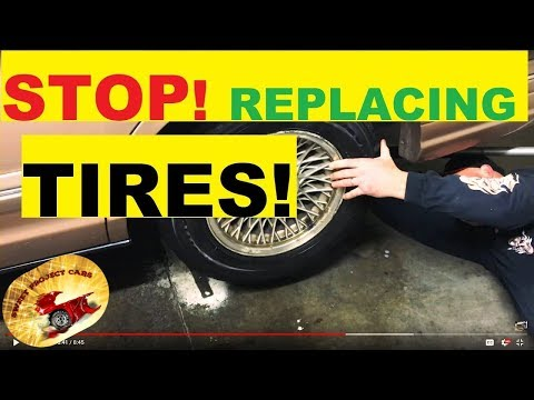 STOP!   REPLACING TIRES... Amazing !!!!!!