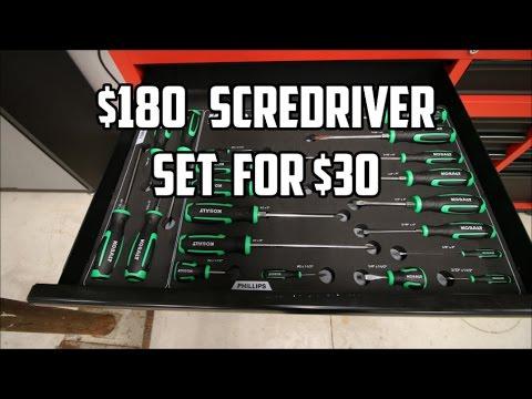 $180 Mac Tools Screwdriver Set for $30