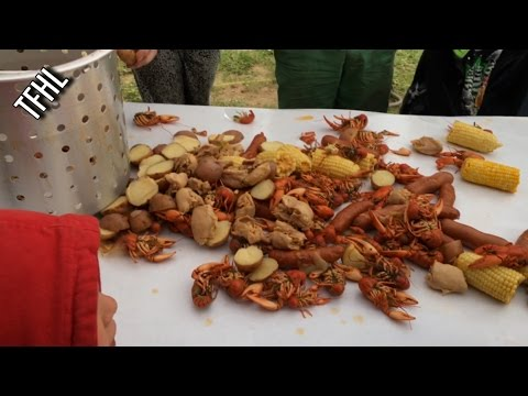 Family Camping Trip Day 3: Utah Crawfish boil