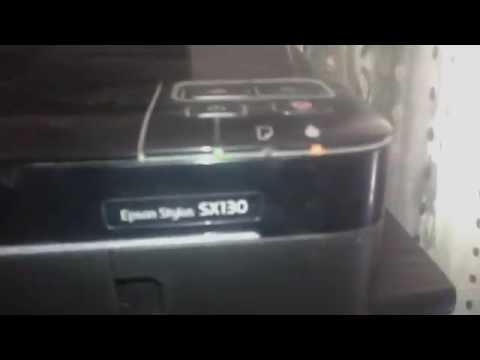 كيفية تغيير حبر للطابعة Epson Stylus SX130