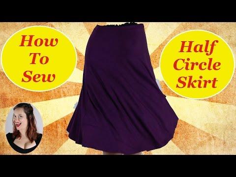 How to Sew a Half Circle Skirt The Rachel Dixon Elastic Waistband Retro Vintage