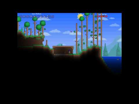Terraria | How to build your first shelter and make a home for the guide