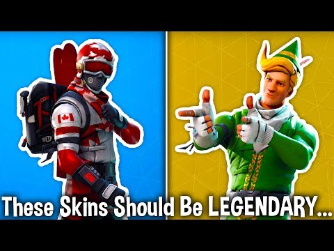 10 SKINS THAT SHOULD BE LEGENDARY in Fortnite! (these skins are underrated)