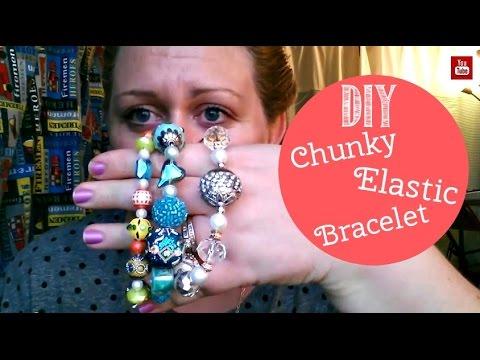 DIY Chunky Elastic Bracelet Tutorial - Gift Idea