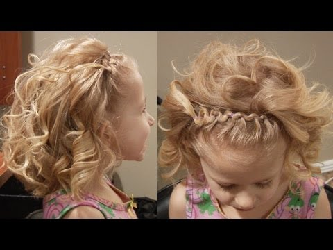 Curved Bangs with Flat Iron Curls // Hairstyles Cute Girls