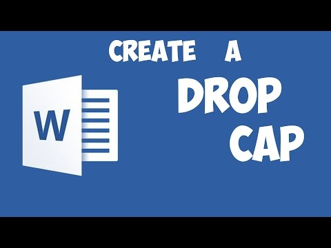 Word 2016 - Create a Drop Cap