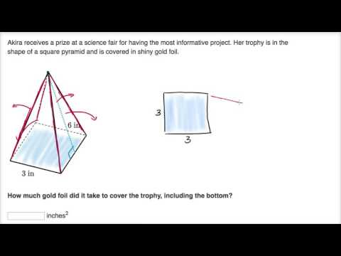 Surface area word problem example