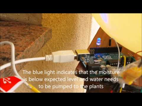 Automatic Plant Watering and Soil Moisture Monitoring