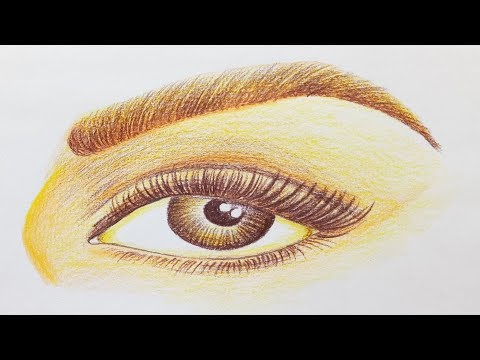 How to draw a Realistic Eye for Beginners.Step by step(easy draw)