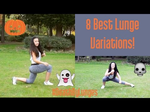 The Best Lunge Variations for Women. Tone your thighs, lift your bum and say bye to cellulite sally!