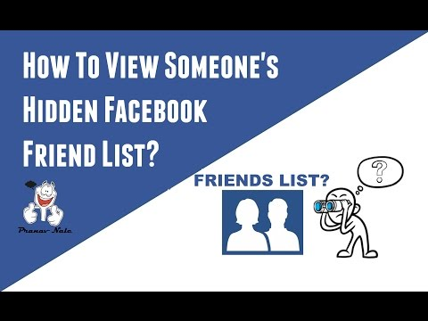 How To View Someone's Hidden Facebook Friend List
