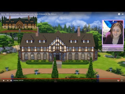 Recreating Sims 3 Landgraab House in The Sims 4 (Streamed 2/7/18)
