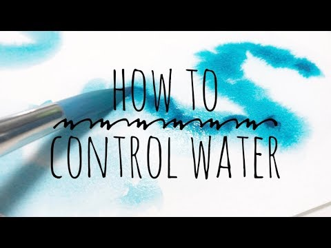 How To Control Water in Watercolor Paintings | Watercolor Techniques for Beginners