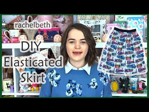 DIY Elasticated Waistband Skirt (With Pockets)