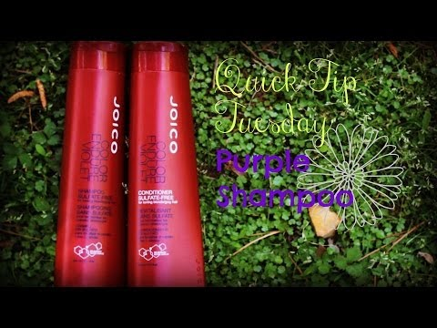 What Does Purple Shampoo Do?  How to Help Brassy Blonde Hair! (Quick Tip Tuesday)