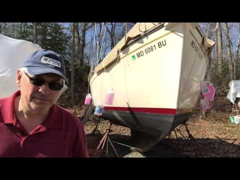 Sailing Vessel Southern Lady - Sailboat Exterior Clean Up -1 (3-7-16 part16)