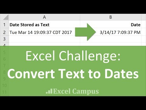 Convert Text to Dates with Flash Fill - Excel Data Cleansing Challenge