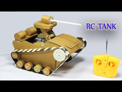 How to Make a Powerful Tank ! DIY Powerful Remote Control Tank !