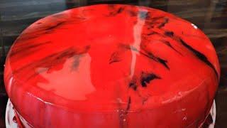 valentine's day special Mirror Glaze cake malayalam /അടിപൊളി കേക്ക്