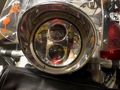 Installing a DayMaker HID LED Headlight in a 2005 Honda VTX 1800