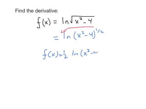 Derivative ln(u) (Chain Rule)