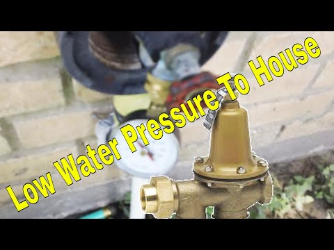 Low Water Pressure To House