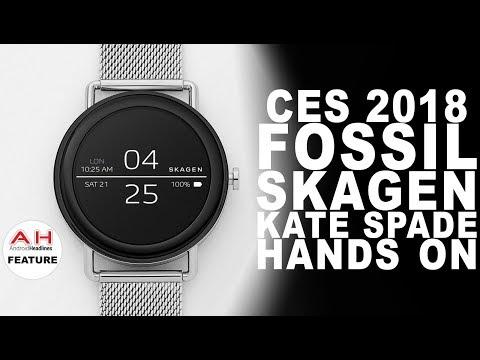 CES 2018 Fossil, Skagen, Kate Spade Smartwatch Hands On