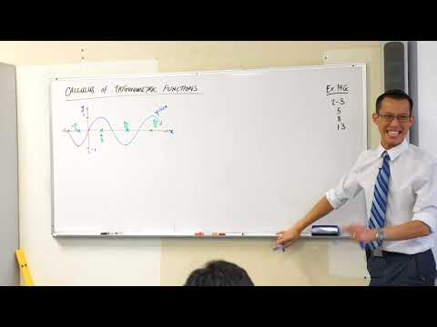 Calculus of Trigonometric Functions (1 of 3: Using visual intuition)