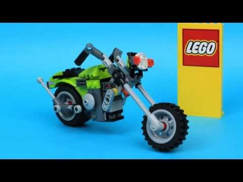 New LEGO CREATOR 31018 Motorbike chopper speed build,animation. Lego Motocykl
