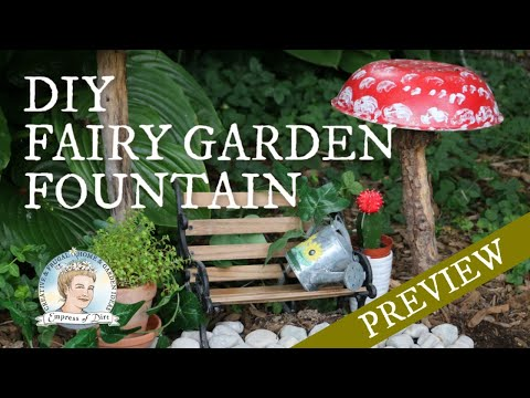 Make a Fairy Garden Fountain that Really Works // Empress of Dirt