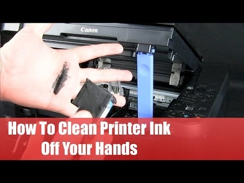 How to Clean Printer Ink Off Your Hands