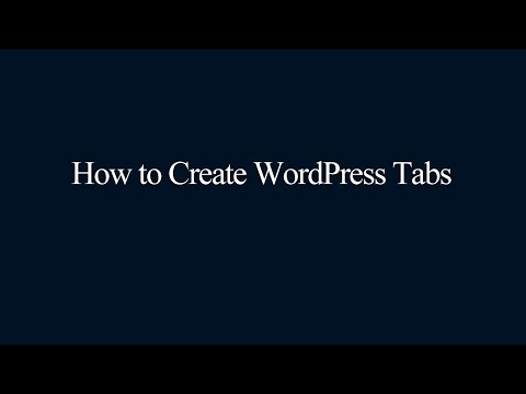 How to Create WordPress Tabs
