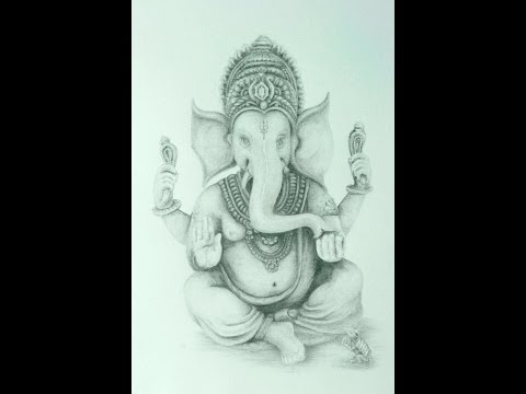 Drawing Lord Ganesha; Fine Art Pencil Part 2