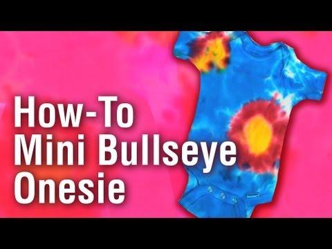 How-To Make a Mini Bullseye Tie Dye Onesie